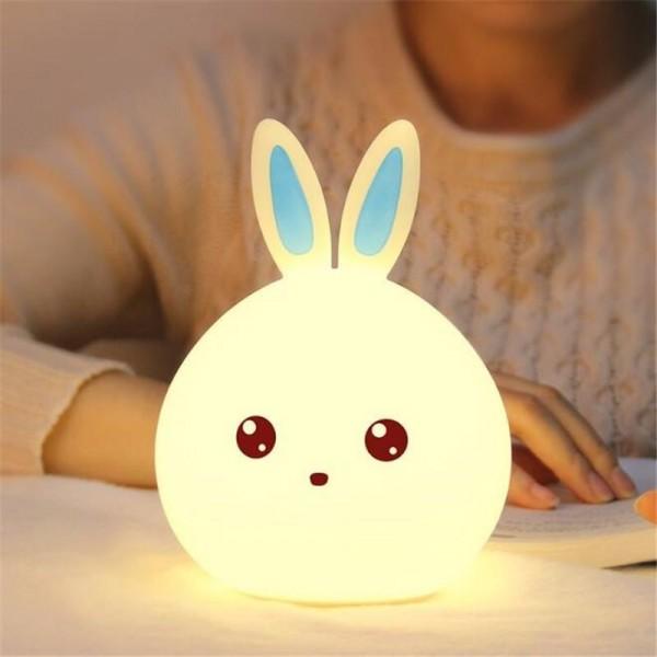 Nočna lučka Zajček na dotik